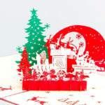 18664 Снится Рождественская открытка