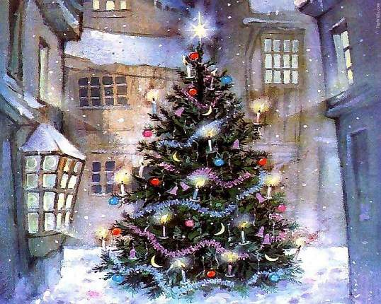 18666 Снится Рождественская елка