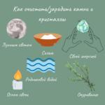 21810 Как очистить/зарядить камни и кристаллы