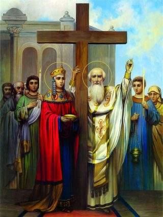 Елена вместе с палестинским епископом Макарием нашла и вернула Крест Господен
